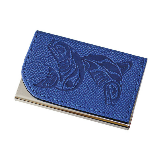 Card Holder - Whales by Paul Windsor