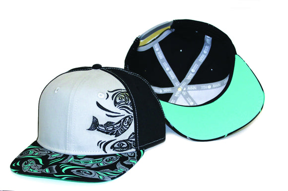 Snap Back Hats - Sacred Salmon by Paul Windsor