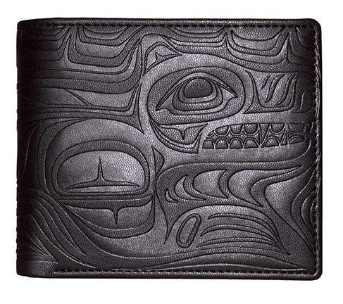Embossed Men's Wallets- Spirit Wolf by Paul Windsor