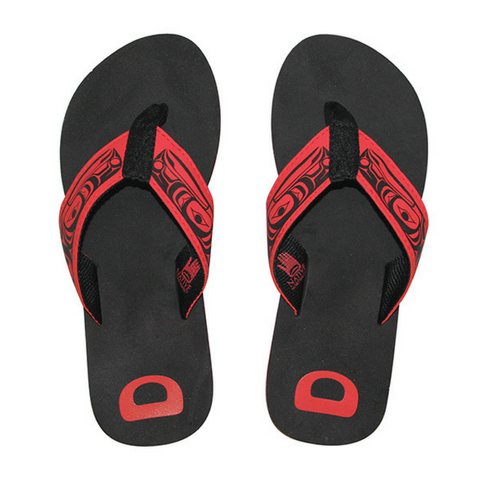 Flip Flop Sandal - Raven by Terry Starr
