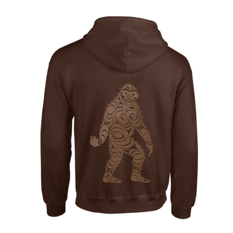 Hooded Sweatshirt - Sasquatch by Francis Horne Sr.