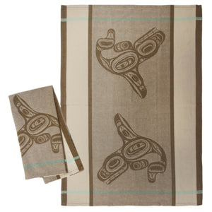 Tea Towel - Whale (Brown) by Ernest Swanson