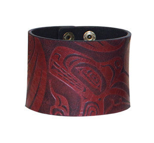 Leather Cuff - Wolf by Trevor Angus