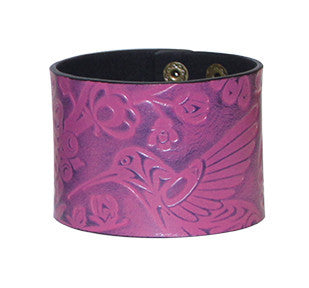 Leather Cuff - Hummingbird by Simone Diamond