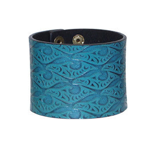 Leather Cuff - Salmon by Dylan Thomas