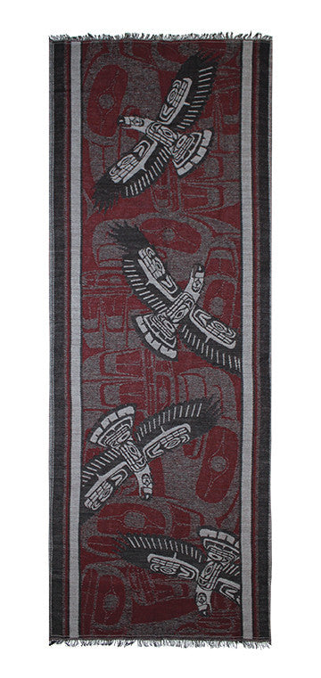 Merino Wool Blanket Scarf - Eagle Spirit by Ben Houstie