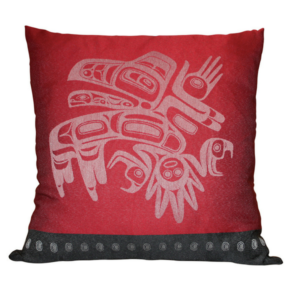 Pillow Cover - Running Raven by Morgan Asoyuf