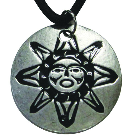 Pewter Leather Necklace - Sun by Frances Horne Sr