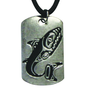 Pewter Leather Necklace - Dogfish by Shawn Edenshaw