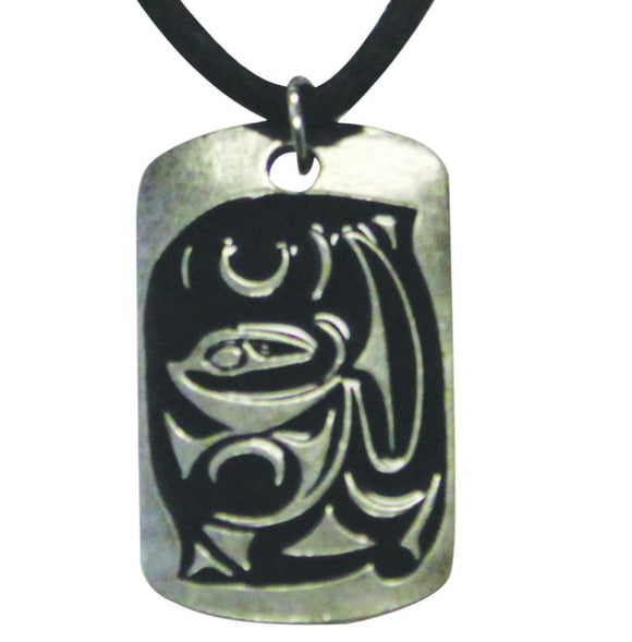 Pewter Leather Necklace - Sustenance by Maynard Johnny Jr
