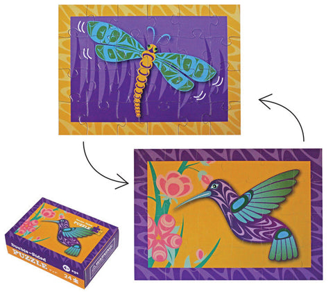 Mini Puzzle - Hummingbird & Dragonfly By Simone Diamond