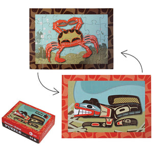 Mini Puzzle - Beaver & Crab by Ben Houstie