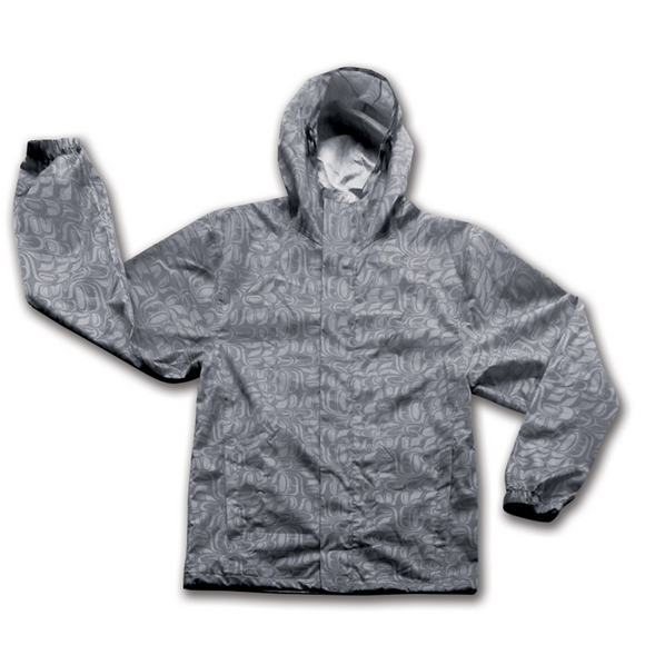 native apparel rain jacket grey
