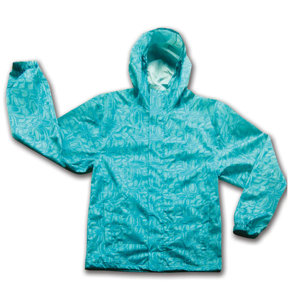 Rain Jacket - Pacific Formline by Paul Windsor (Teal)