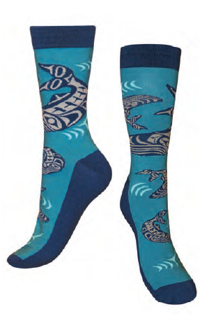 Art Socks - Humpback Whales by Ben Houstie