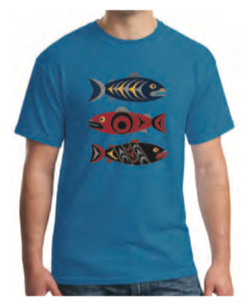 T-shirt -Salmon in the Wild by Simone Diamond