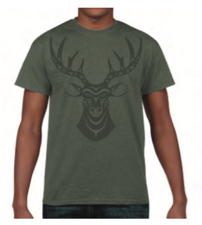 T-Shirt - Deer by Simone Diamond
