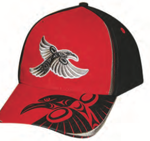 Cap - Raven by Simone Diamond, Coast Salish