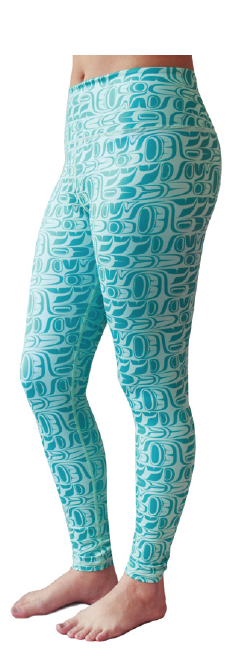 Performance Leggings, Aqua - Pacific Formline by Paul Windsor