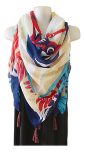 Tapestry Scarf - Heron by Doug LaFortune, Coast Salish