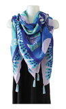 Tapestry Scarf - Hummingbirds by Joe Wilson-Sxwaset, Coast Salish