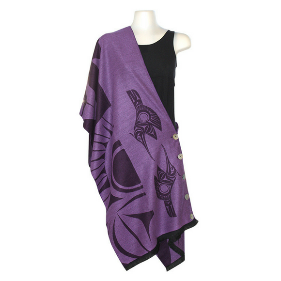 button-shawl-hummingbird-purple