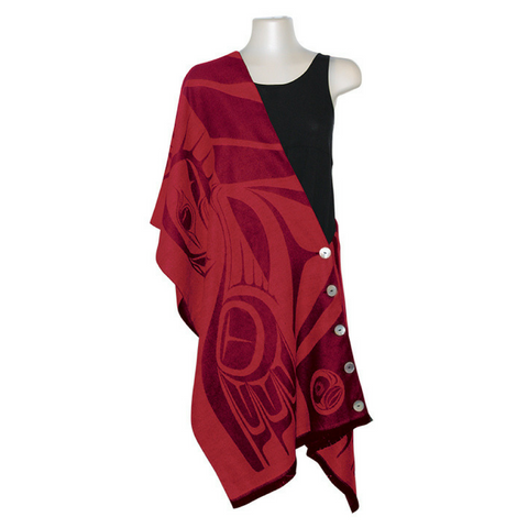 button-shawl-eagle-red