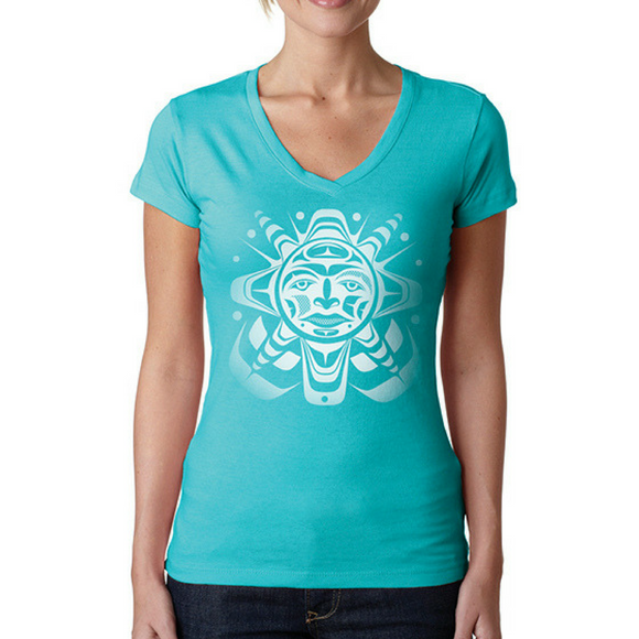Ladies T-shirt - Sun by Paul Windsor
