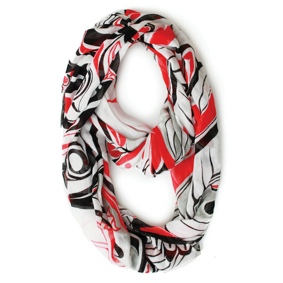 Bamboo Circle Scarf - Honouring the Salmon by Paul Windsor