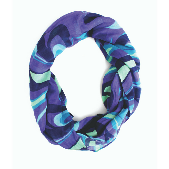 Bamboo Circle Scarf - Self Reflection by Andrew Dexel