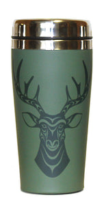 Travel Mug 16oz - Deer By  Simone Diamond