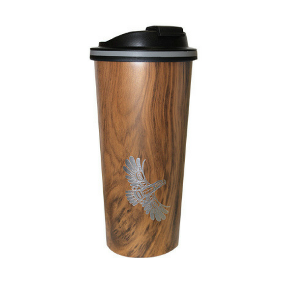 Insulated Travel Mug - Eagle's First Flight by Ernest Swanson