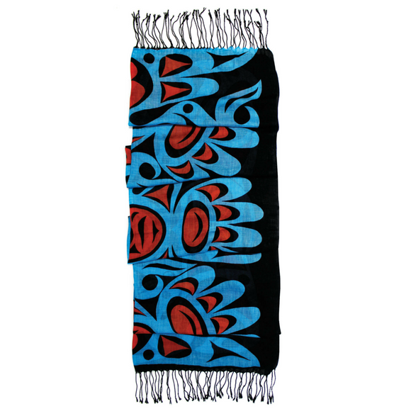 Viscose Scarf -  Eagles by Joe Wilson-Sxwaset