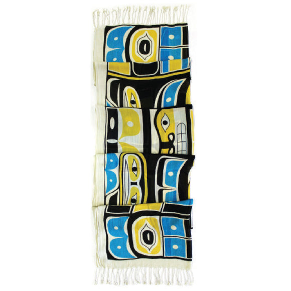 Viscose Scarf -  Chilkat Raven by Charles Yaklin