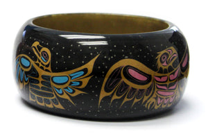 "Wood Bangle 1.5"" - Dancing Northern Light by Paul Windsor"