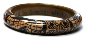 "Wood Bangle .75"" - Thunderbird by Gordon White"