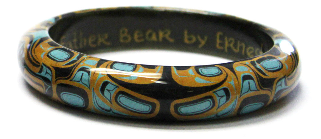 "Wood Bangle .75"" - Father Bear by Ernest Swanson"