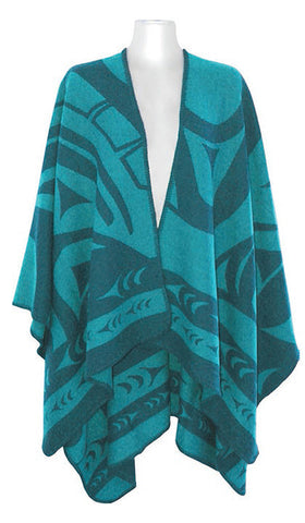 Reversible Fashion Wraps - Whale by Doug Horne