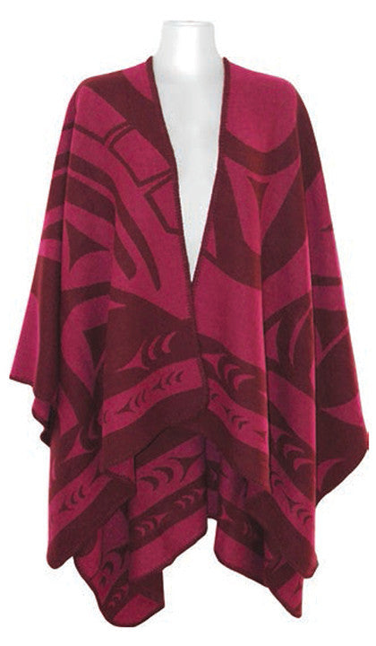 Reversible Fashion Wrap - Whale (Pink) by Doug Horne