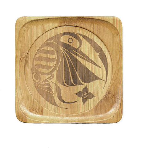 Bamboo Coaster - Hummingbird by Eric Parnell