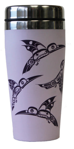 Travel Mug 16oz  - Hummingbirds by Eric Parnell