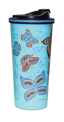 Travel Mug 16oz - Butterflies by Paul Windsor