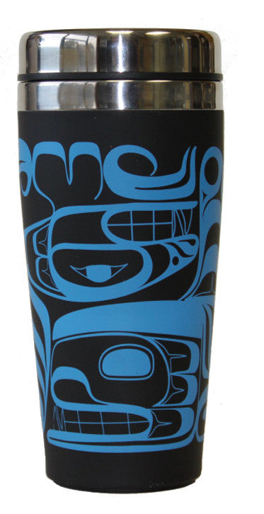 Travel Mug 16oz  - Four Clans by Terry Starr