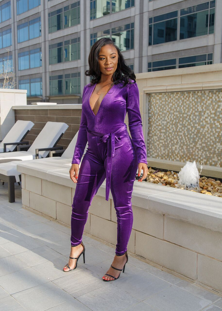 Cassie Jumpsuit-Purple