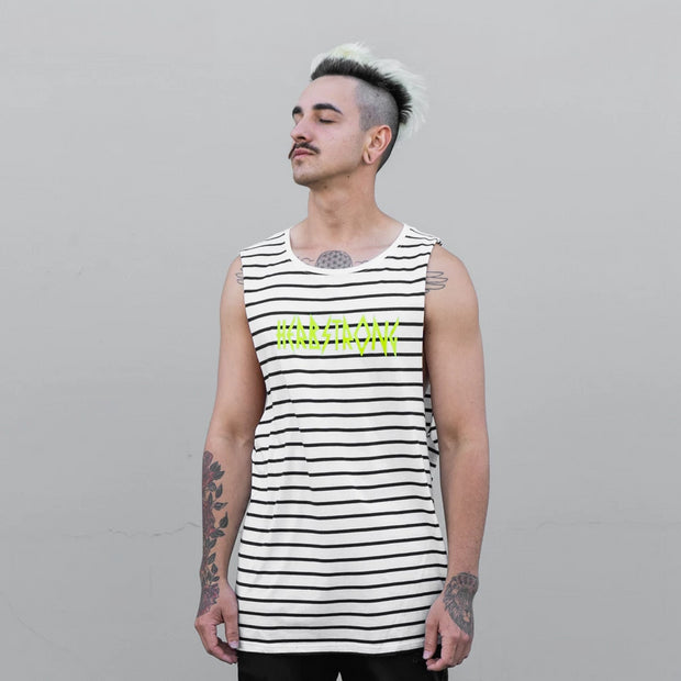 Striped Muscle Tank