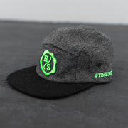 5-Panel Hat - Black/Grey