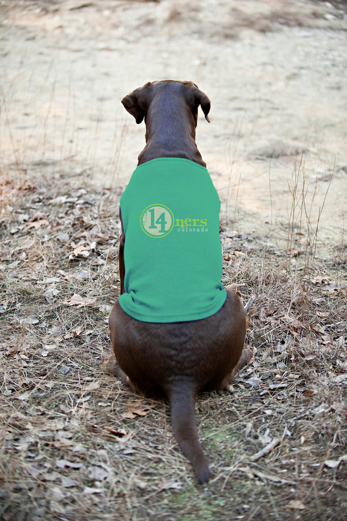 Colorado 14ners Doggie Tank - Green - All Peak