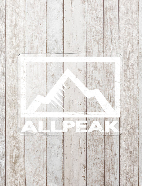 All Peak Sticker - White - All Peak