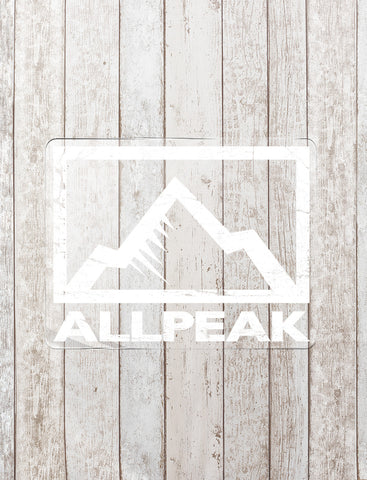 All Peak Logo – White - All Peak