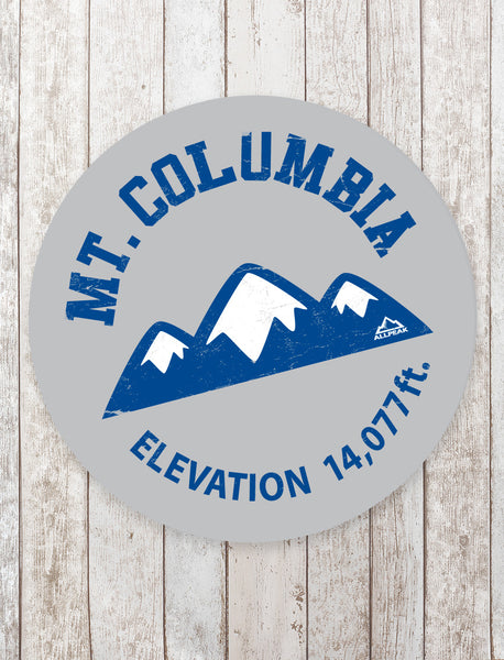 Mount Columbia Sticker - All Peak